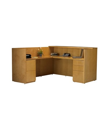 Luminary Series L Shaped Reception Station with Storage Options MAYRSRBB-