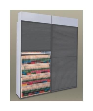 MAYSS3676-4-Post Security Shade / Tambour Door - Installed