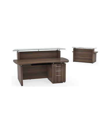 MAYSTG33- Sterling™ Series Reception Station with Optional Storage -  with Pedestal