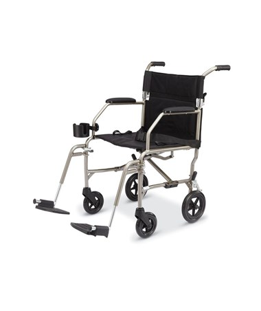 Excel Freedom Transport Chair in Silver