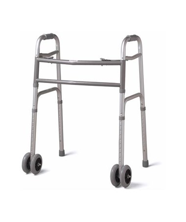 "Bariatric Folding Walker with 5"" Wheels MEDMDS86410XWW"