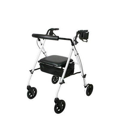 Medline MDS86835W Luxe Adjustable Rollator