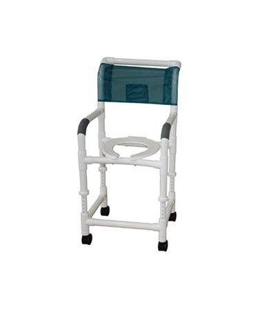 MJM 118-3-ADJ Adjustable Height Shower Commode