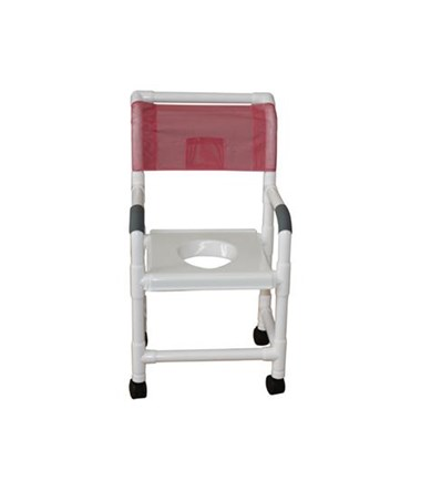 MJM118-3-VS MJM Commode Shower Chair with Support Snap on Seat