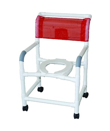 "MJM 122-3-SSDE-22"" Wide Soft Shower Commode"