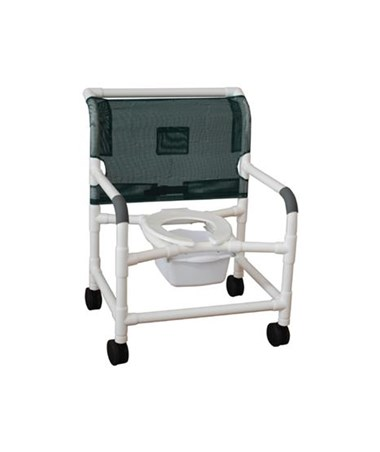 "MJM126-5-WB 26"" Wide Commode Shower Chair with Heavy Duty Casters"