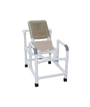 MJM 194-SQ-PAIL Reclining Shower Chair with Commode Pail
