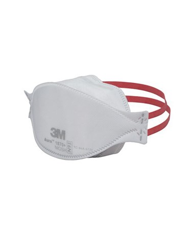 MMM1870_ - Aura™ Health Care Particulate Respirator & Surgical Mask - Side view