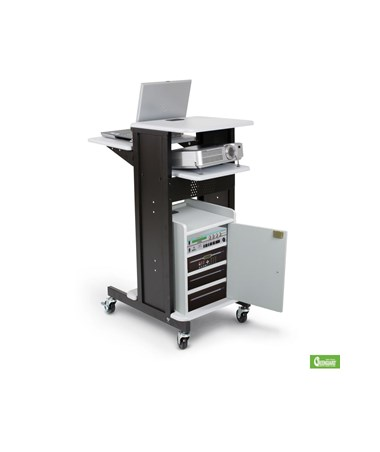 Presentation Cart in Gray/Black with Optional Add Ons.
