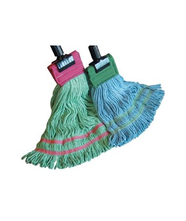 "6-Ply Synthetic Wet Mop with Double 9"" Tail Headband NDCP124964_x11-"