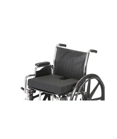 Nova 2603 Gel Foam Coccyx Wheelchair Cushion - shown on wheelchair