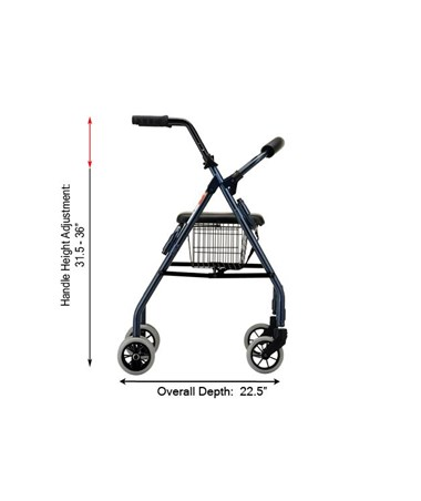 nova cruiser ii rolling walker save at tiger medical inc. Black Bedroom Furniture Sets. Home Design Ideas