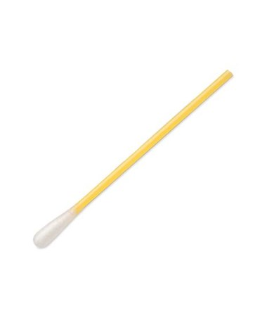 "3"" Sterile Polyester Applicator with Yellow Polystyrene Handle"