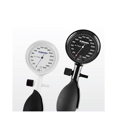 White and black single tube E-mega® Aneroid Sphygmomanometer RIE1370-150