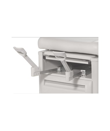 UMF5250- Signature Series Reversible Drawers Manual Exam Table - Stirrups Extended