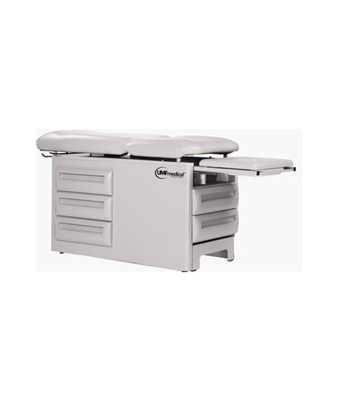 UMF5250- Signature Series Reversible Drawers Manual Exam Table - Legrest Extended