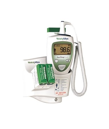 SureTemp Plus 690 Electronic Thermometer, Wall Mount, Rectal Probe with Oral Rectal Well
