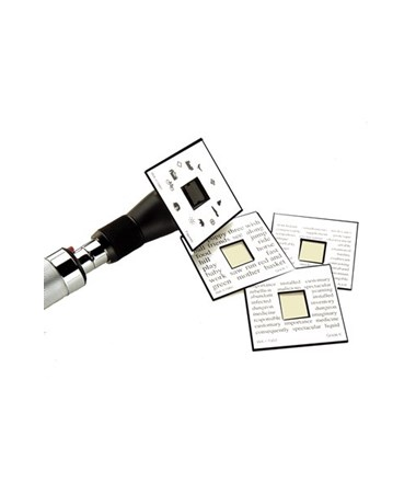 Chart Fixation Cards with Retinoscope.