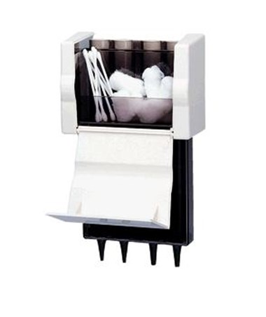 KleenSpec® Specula Dispenser with Storage (open), specula, swabs, and cotton not included