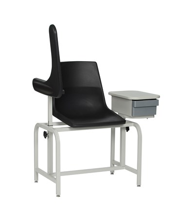 WIN2570- Blood Drawing Plastic Chair with Cabinet - Arm Up