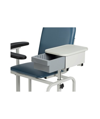 WIN2572 Padded Blood Drawing Chair with Storage Drawer - Storage Drawer Open
