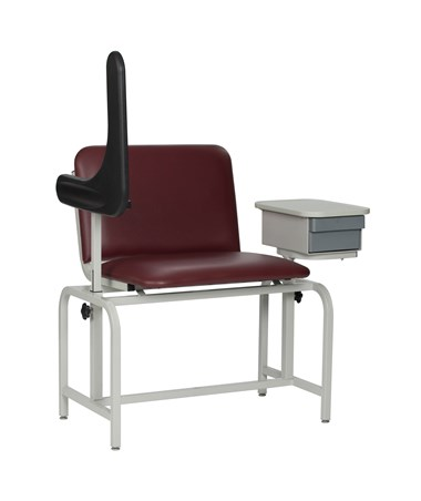 WIN2574- Extra Large Padded Blood Drawing Chair with Storage Drawer - Arm Up