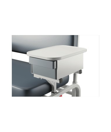 Extra Wide Bariatric Blood Drawing Chair - Arm with Cabinet
