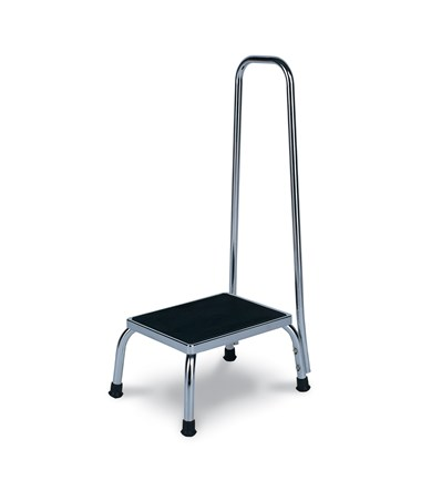 Chrome Steel Footstool with Handle WIN4230
